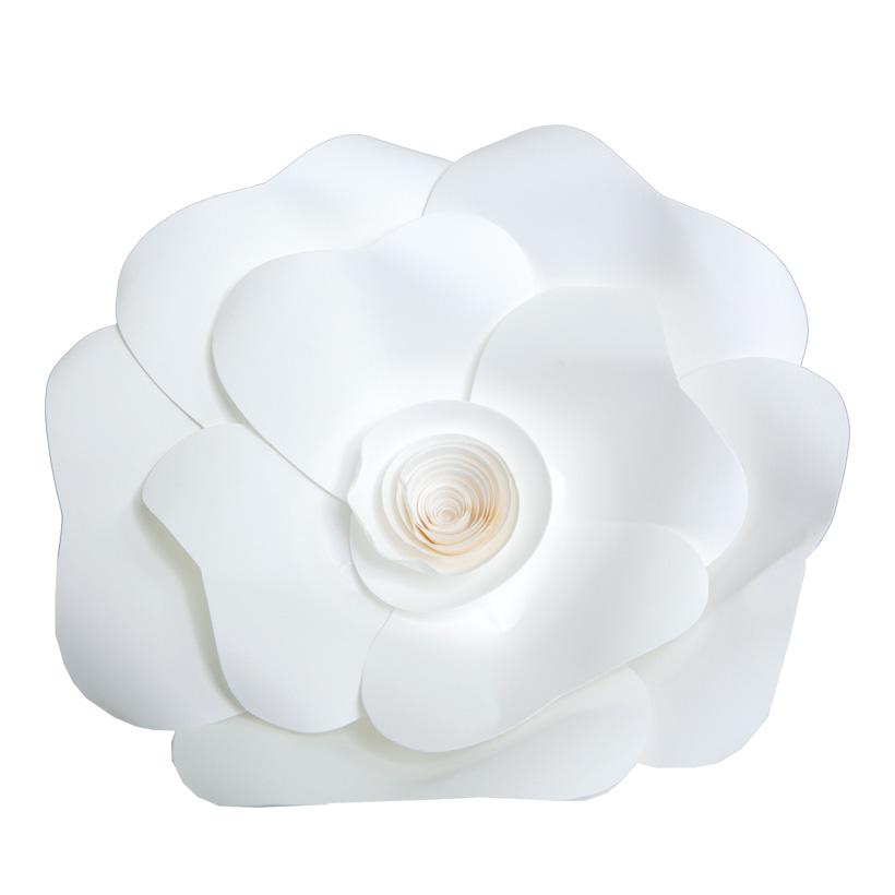 Rose aus Papier, Ø 20cm, mit Draht zum Hängen