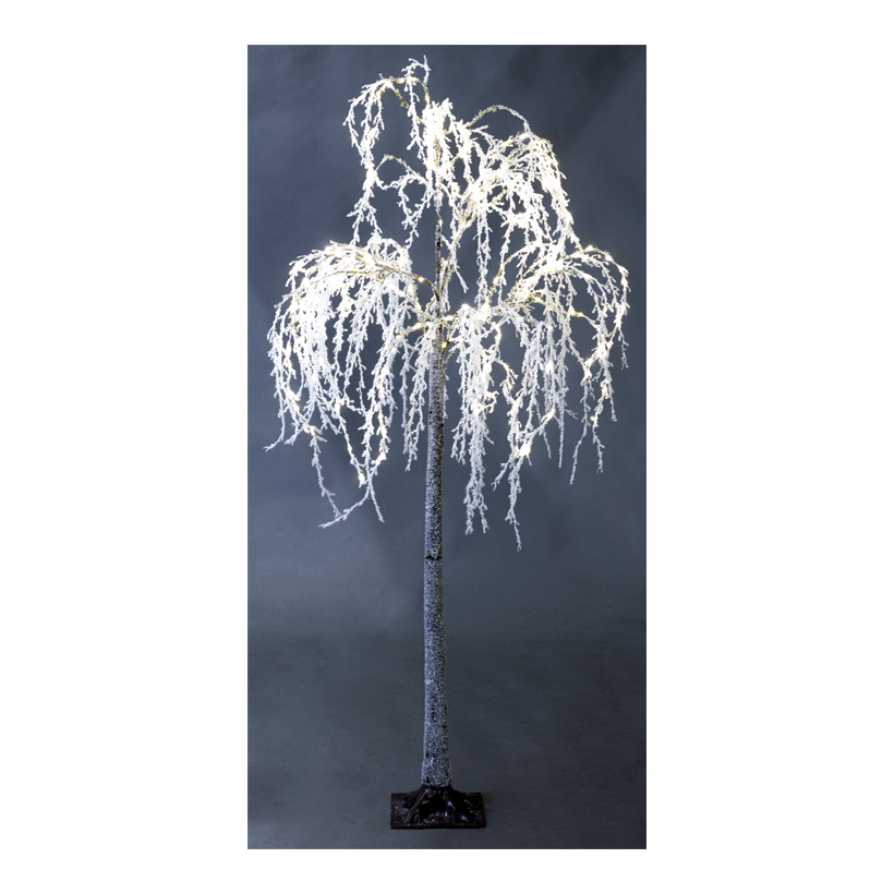 LED-Weidenbaum, 180cm Ø100cm mit Metallfuß und 240 LEDs, IP44 Stecker für außen, 3m Zuleitung