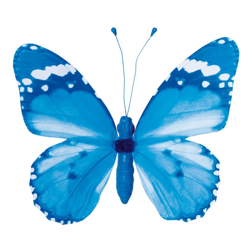 Schmetterling mit Clip, 20x30cm, Flügel aus Papier, Körper aus Styropor