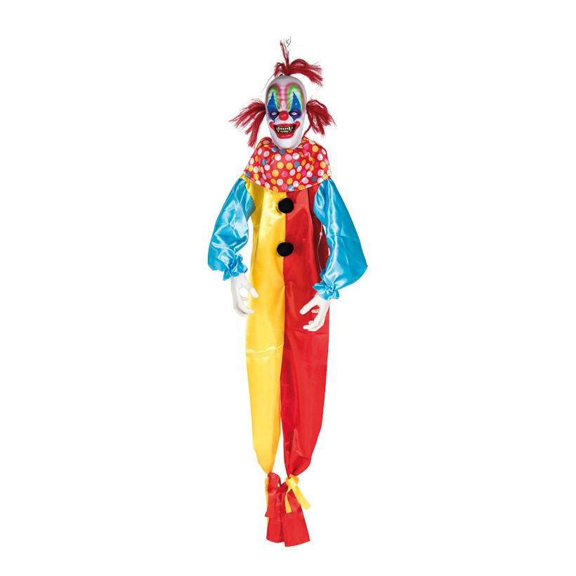 Horroclown, mit Hänger, 150cm mit Licht- und Soundeffekten