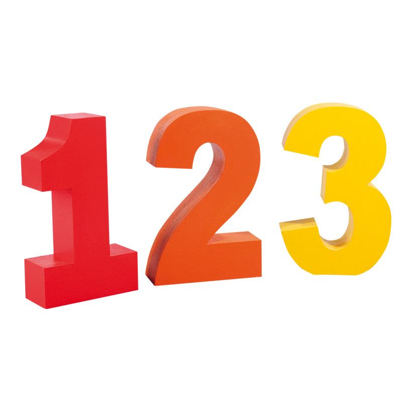 # Zahlen 123, 50x30cm, Styropor
