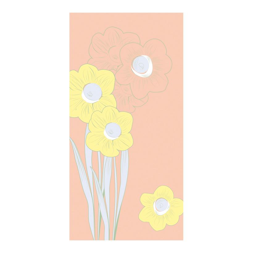 "# Motivdruck ""Blüten in Pastell"", 180x90cm Stoff"