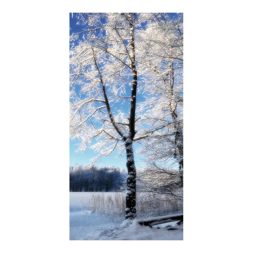 """# Motivdruck """"Baum im Raureif"""", 180x90cm Stoff"""