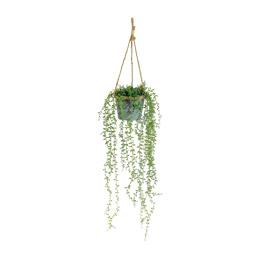 # Hängepflanze 80 cm, Ø 18 cm Textil, im Metalltopf