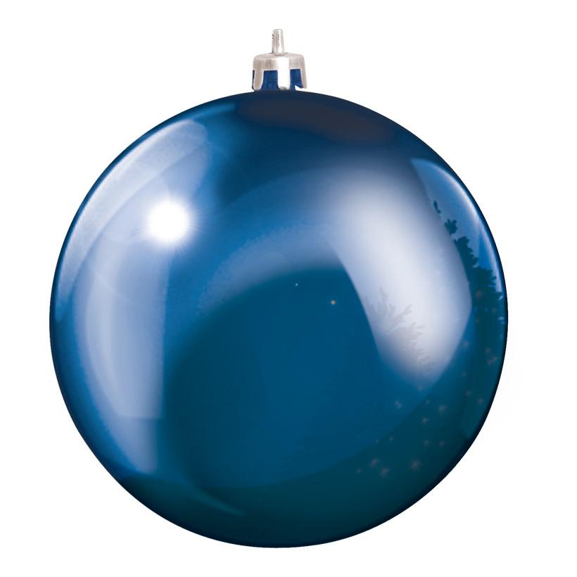 Weihnachtskugel, Blau, êØ 20cm, aus Kunststoff, Schwer entflammbar nach B1, UV-beständig
