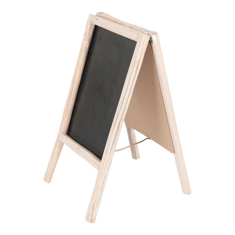 # Werbetafel, klappbar, 80x45cm doppelseitig, mit Holzrahmen