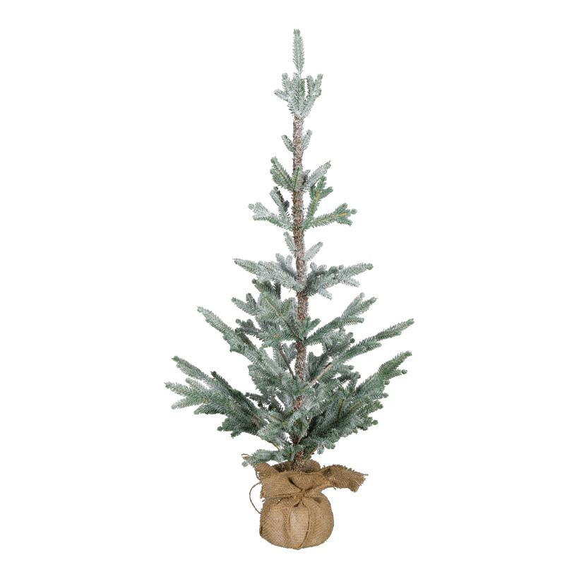 Weihnachtsbaum, 90cm beschneit, im Jutesack, 100% PE-Tips