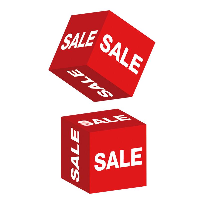 """# Würfel """"Sale"""" 10x10x10 cm Karton"""