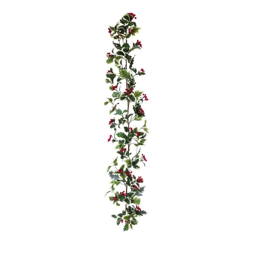 Ilexgirlande, 150cm aus Kunstseide und Styropor