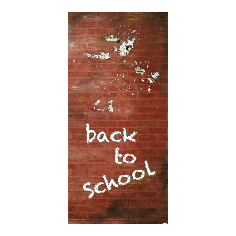 "# Motivdruck ""Back to school"", 180x90cm Papier"