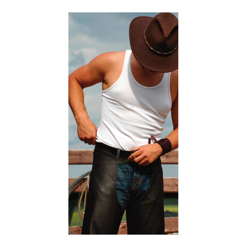 """# Motivdruck """"Cowboy"""" 180x90cm Papier"""