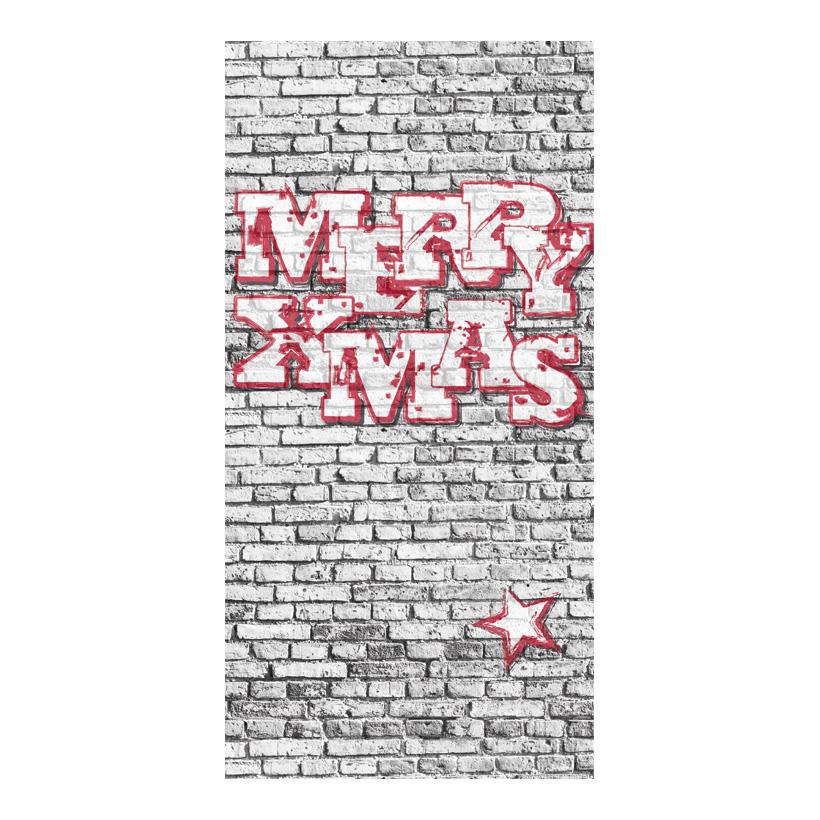 "# Motivdruck ""MERRY XMAS"", 180x90cm Papier"