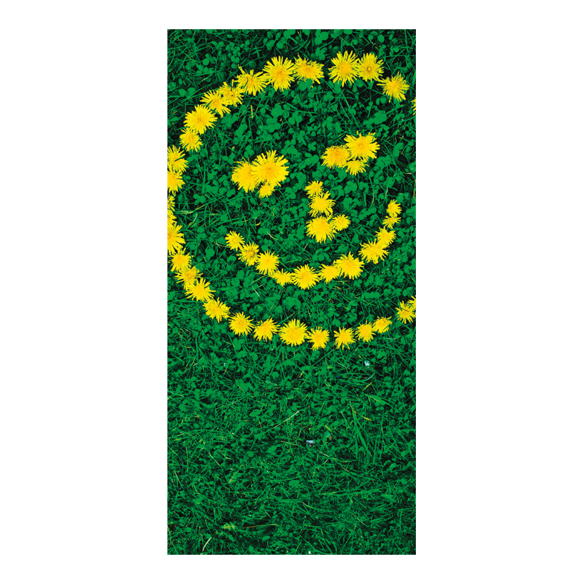 "# Motivdruck ""Blüten Smiley"", 180x90cm Stoff"