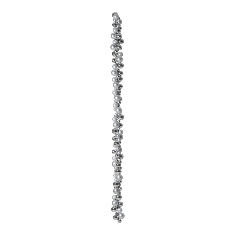 Kugelkette, Ø 3/4/5/6cm, 180cm, Ø 6cm,  mit 2 Aufhängehaken, Kunststoff, Länge inkl. Haken 190cm