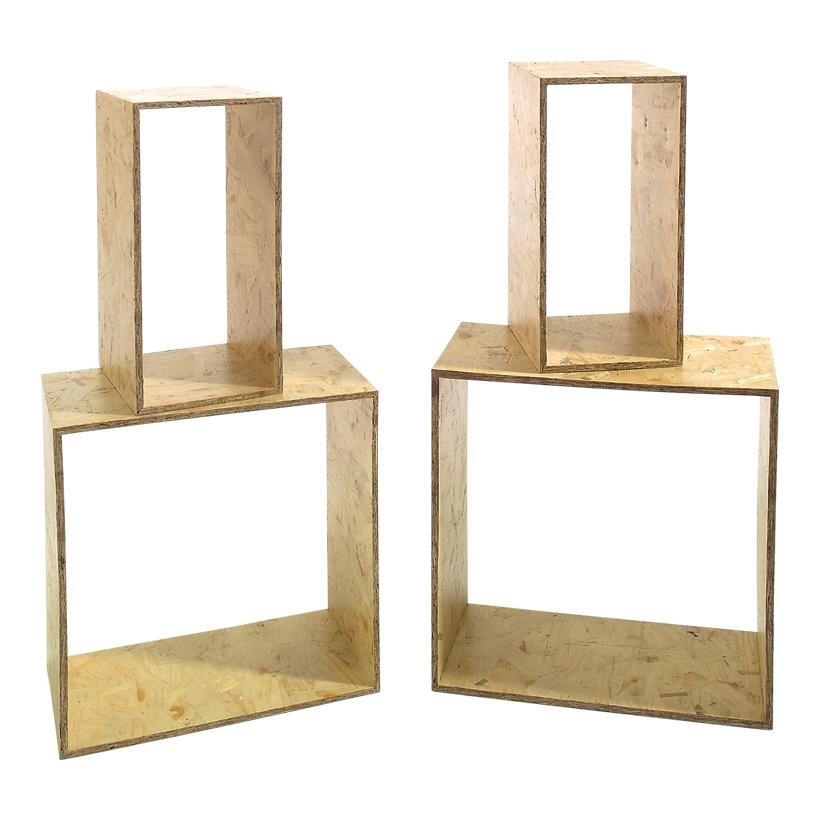 # Regalset max. 40x40x20 cm OSB-Holz