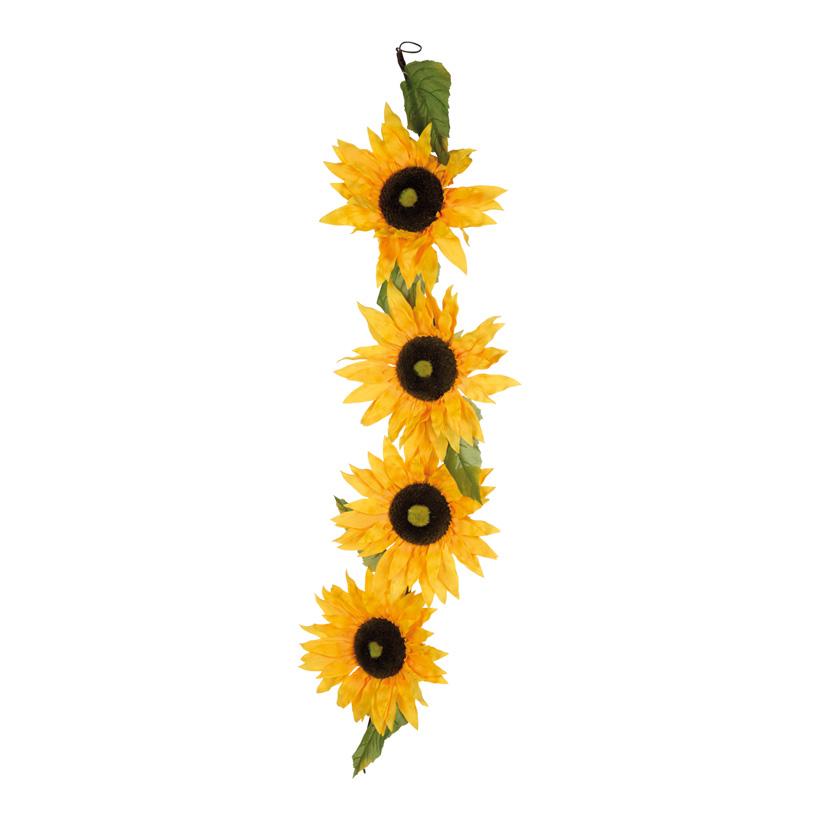Sonnenblumenranke, Blüte Ø 35cm, 160cm, 4-fach, Kunstseide