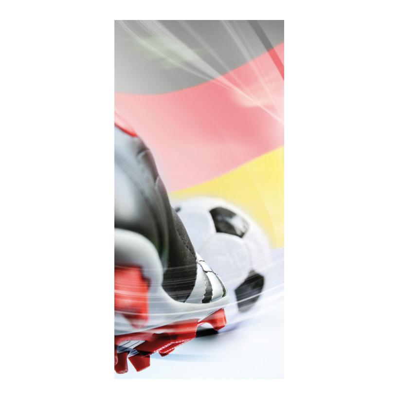 "# Motivdruck ""Fußballschuh"", 180x90cm Papier"