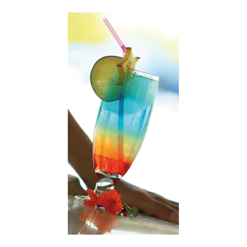 "# Motivdruck ""Cocktail"", 180x90cm Stoff"