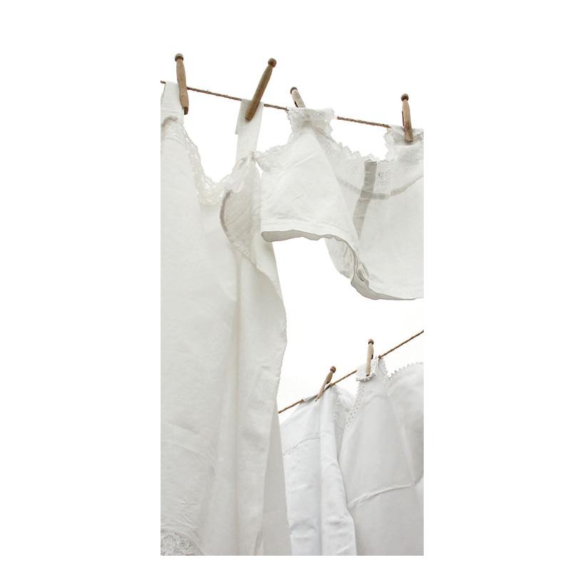 """# Motivdruck """"Wäsche auf der Leine"""" 180x90cm Stoff"""