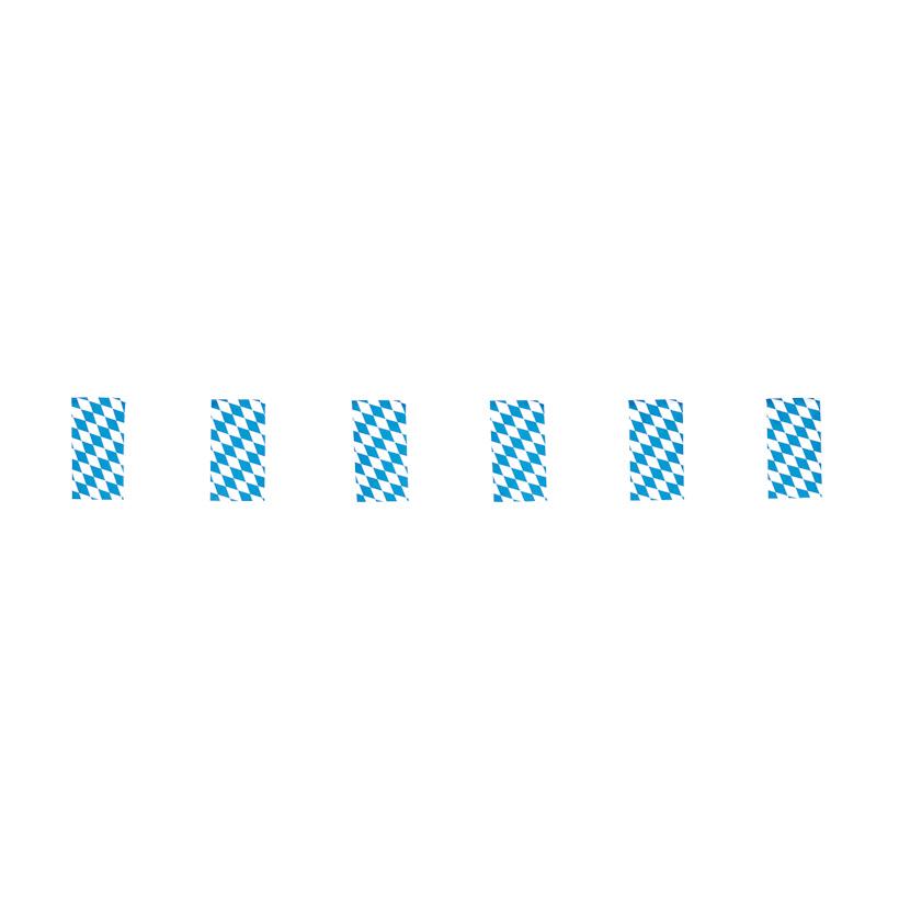 #Fahnenkette 10m, Papier, bayr. Raute 34 Fahnen