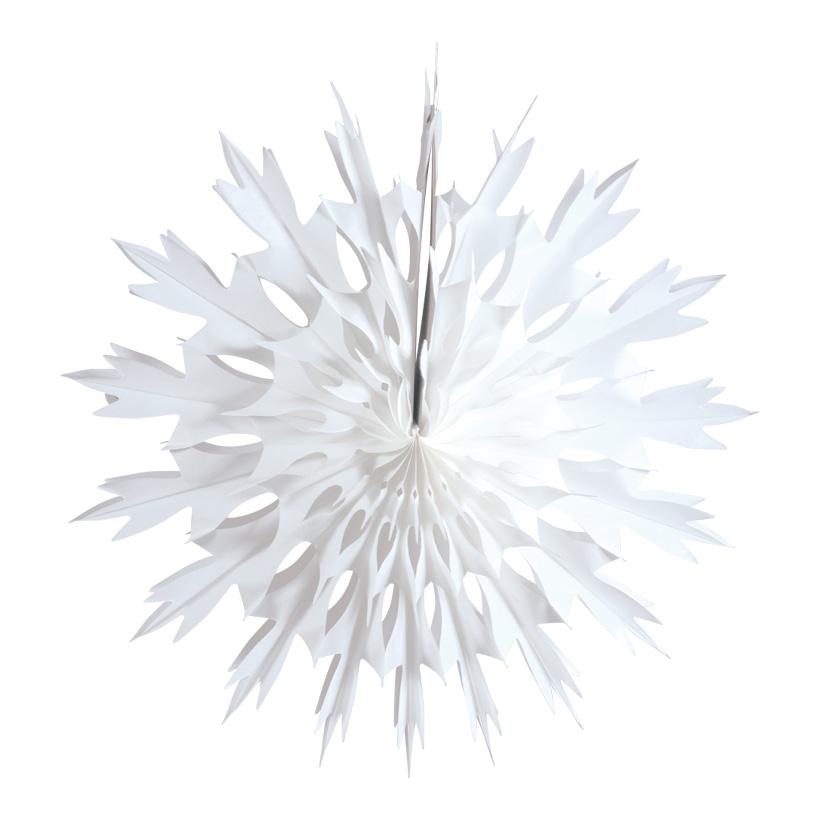 # Schneestern, 60cm aus Papier, faltbar, schwer entflammbar nach M1