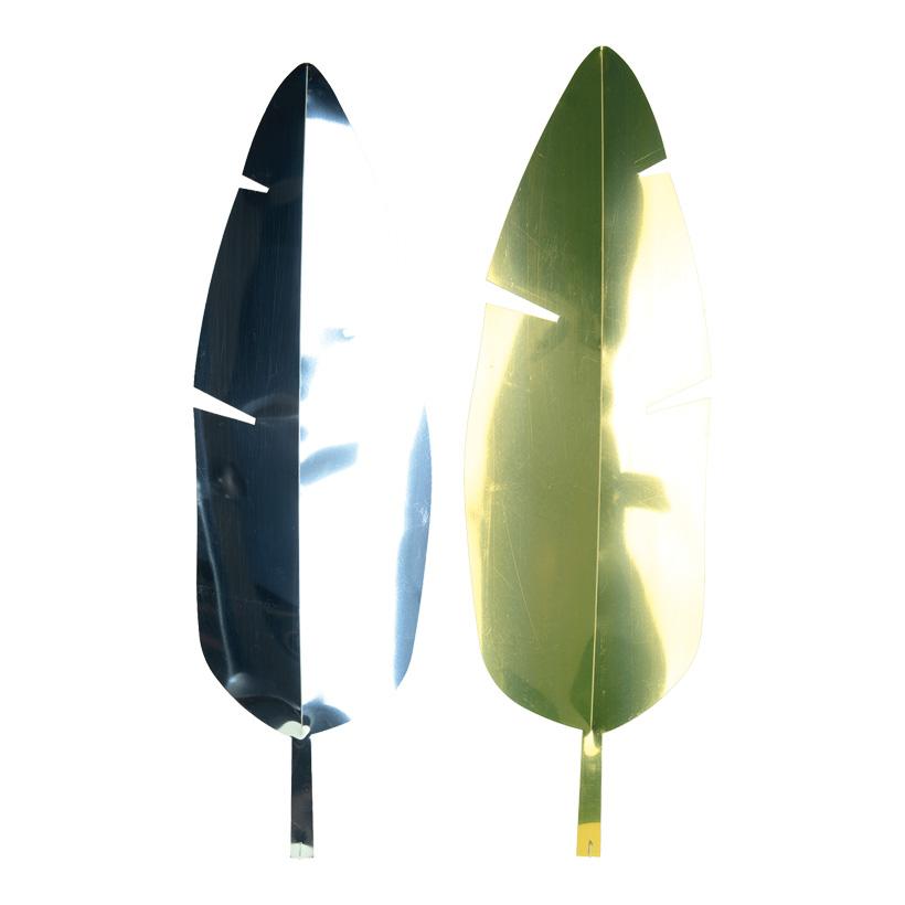 Bananenblatt, Cut-Out, 67x20cm je eine Seite gold & silber, aus Kunststoff