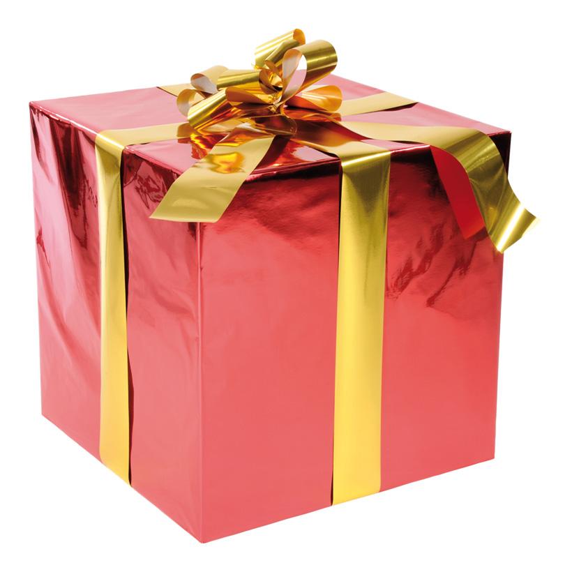 Geschenkpaket, 50x50cm, mit Folienschleife, Styrofoam, Folie