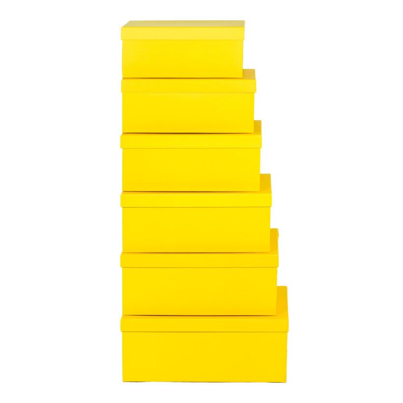 Boxen, 35x24x14,2, 37,5x26x15,7, 39,5x28x16,2, 42x30,5x16,7, 6 Stk./Satz, nestend, Pappe, rechteckig, 30,5x20x13,2, 33,4x22x13,7