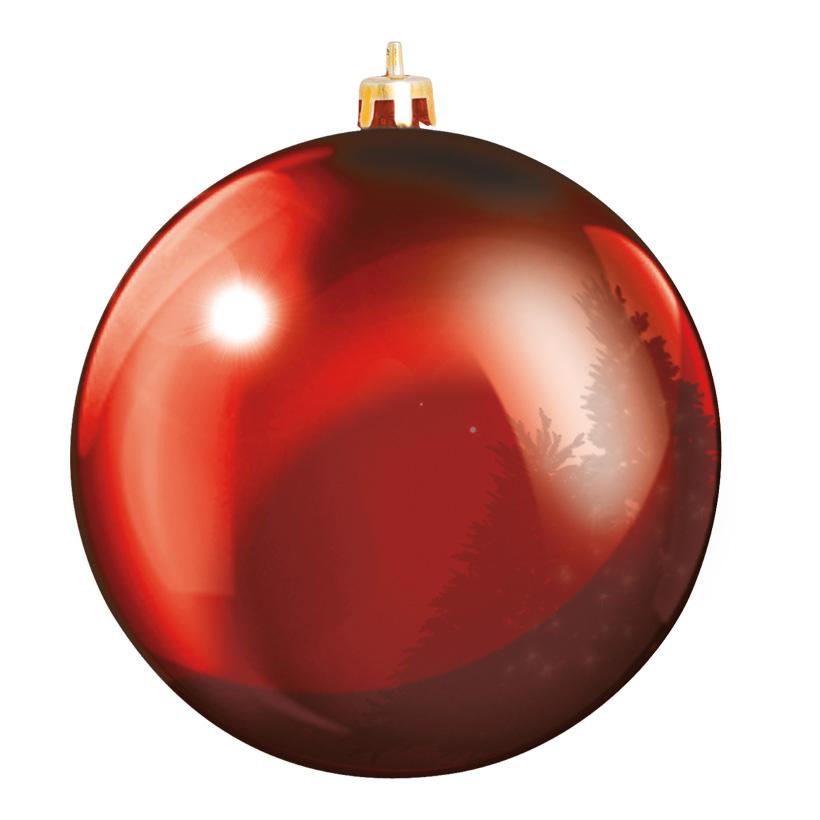 Weihnachtskugel, Rot, êØ 20cm, aus Kunststoff, Schwer entflammbar nach B1, UV-beständig