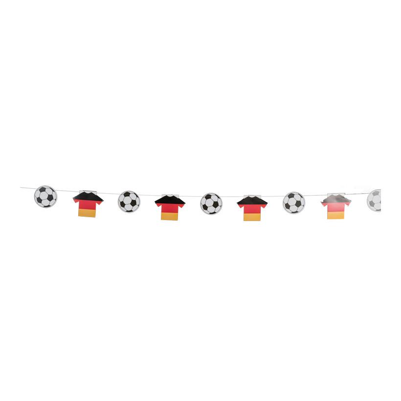 # Fußball-/Trikotkette, 300cm 7 Fußbälle 13 cm, 6 Trikots, aus Karton