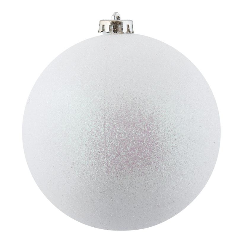 Weihnachtskugel, weiß glitter, Ø 14cm