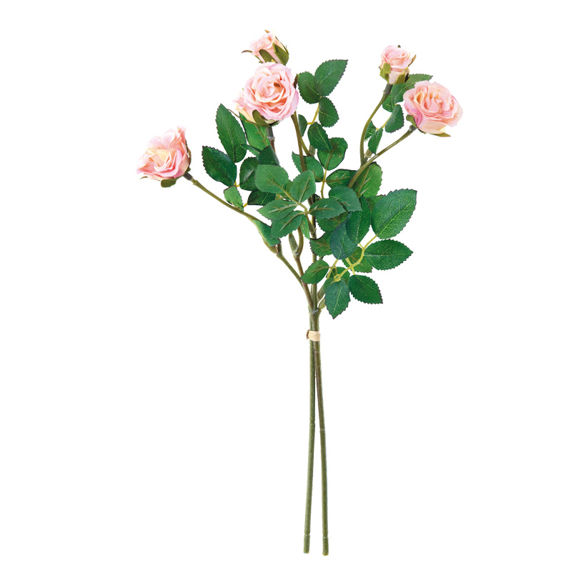 Rosenbund, 33cm 2-fach, mit 6 Rosenköpfen, künstlich