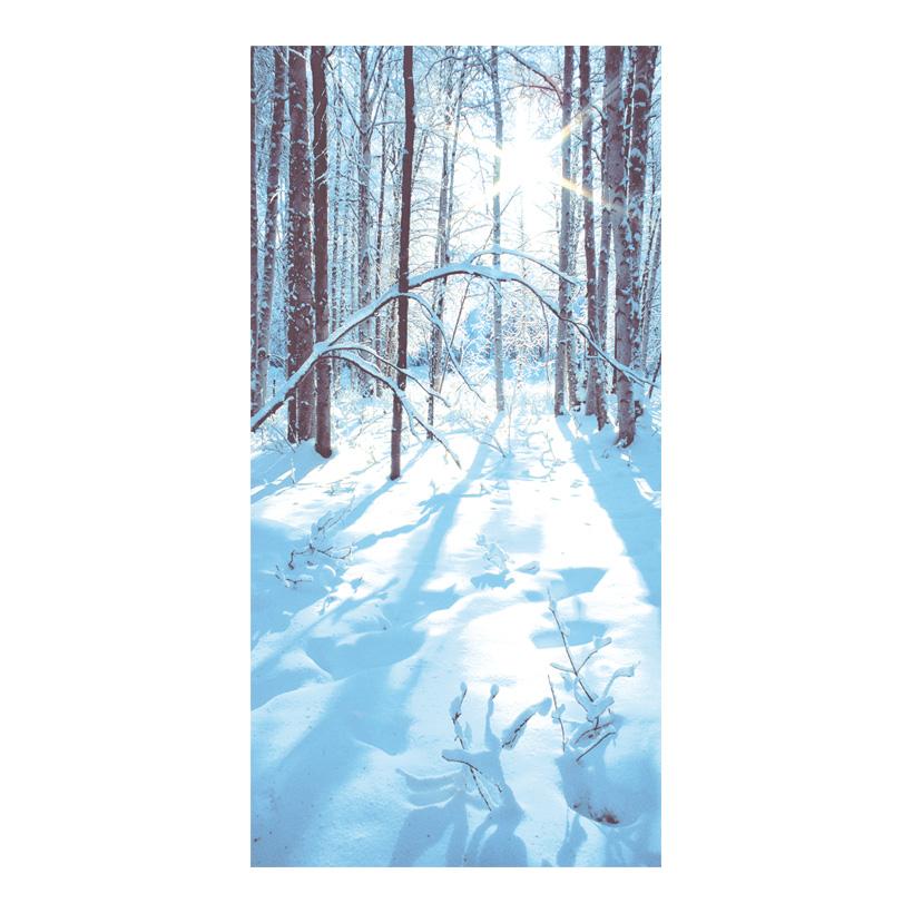 """# Motivdruck """"Sonniger Winterwald"""", 180x90cm Papier"""