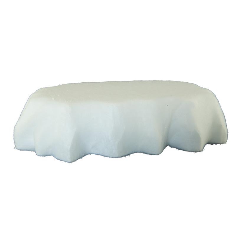 Eisscholle, 78x53x18cm aus Styropor, mit Watte überzogen
