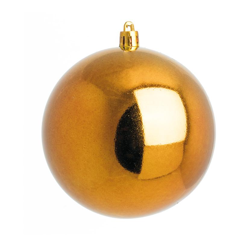 Weihnachtskugel, bronze glänzend, Ø 6cm, 12 St./Blister