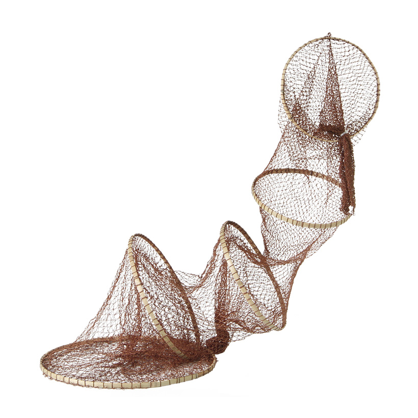 Fischreuse, Ø 40cm, 180cm, Baumwolle, mit 5 Ringen