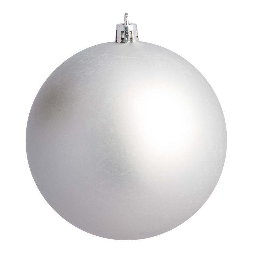Weihnachtskugel, silber matt, Ø 10cm