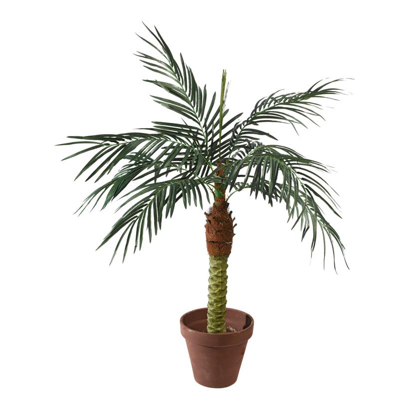 # Phoenix-Palme im Topf, 120cm, 8-fach, 328 Blätter, Kunststoff, Kunstseide