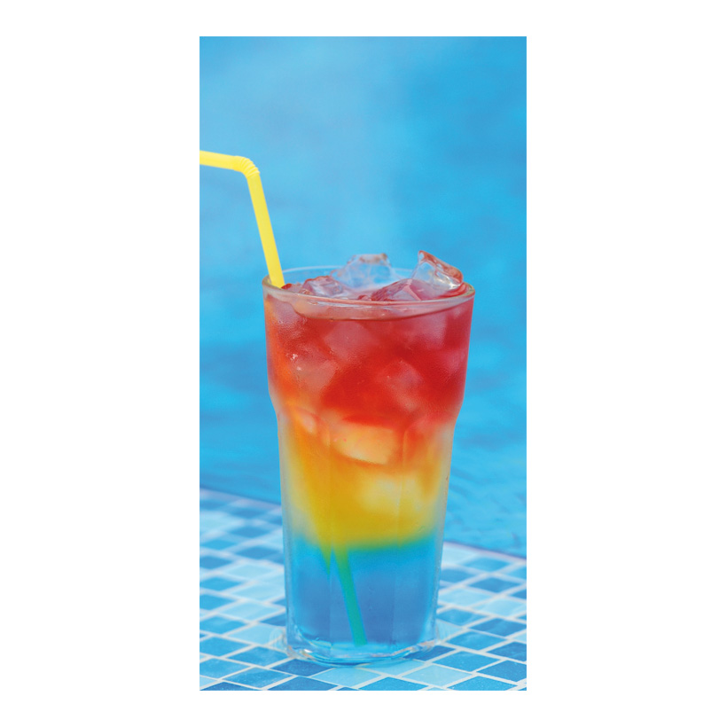 "# Motivdruck ""Cocktail am Pool"", 180x90cm Stoff"