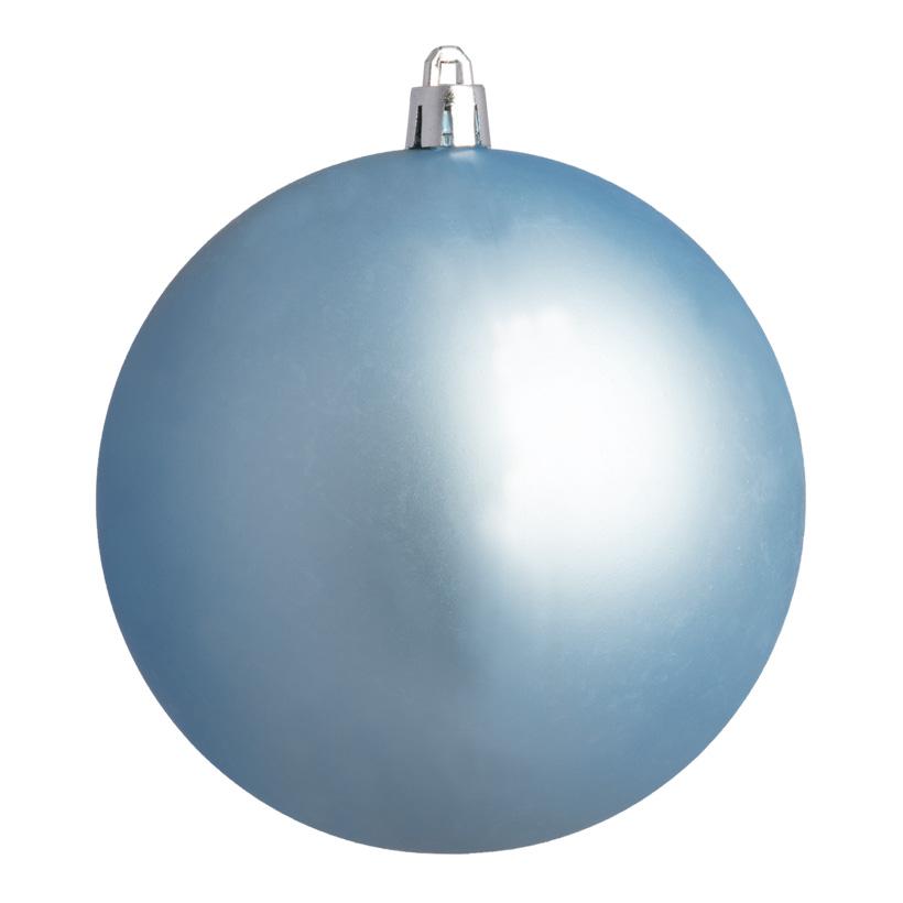 Weihnachtskugel, hellblau matt, Ø 10cm