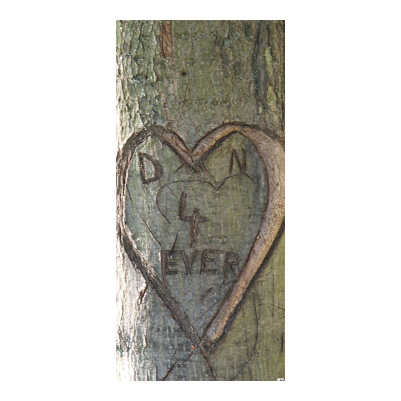 "# Motivdruck ""Love Tree"", 180x90cm Papier"