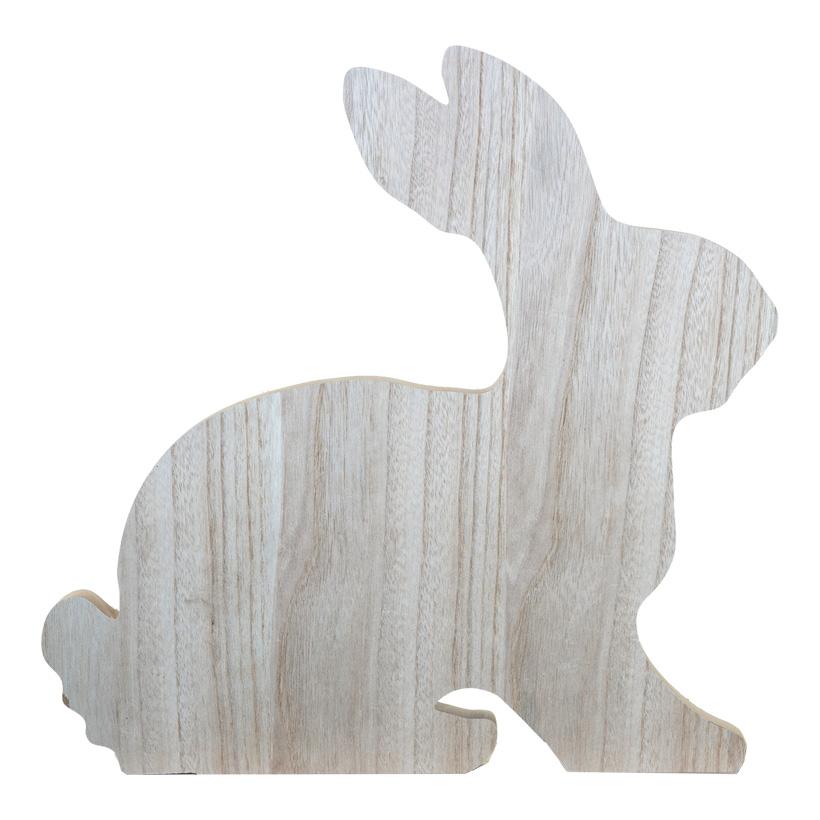 Hase, 50x50cm sitzend, 2-teilig, mit Standplatte, aus Holz