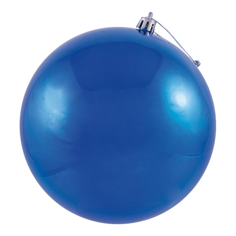 Weihnachtskugel, blau Ø 6cm, 12Stck./Blister, nahtlos, glänzend