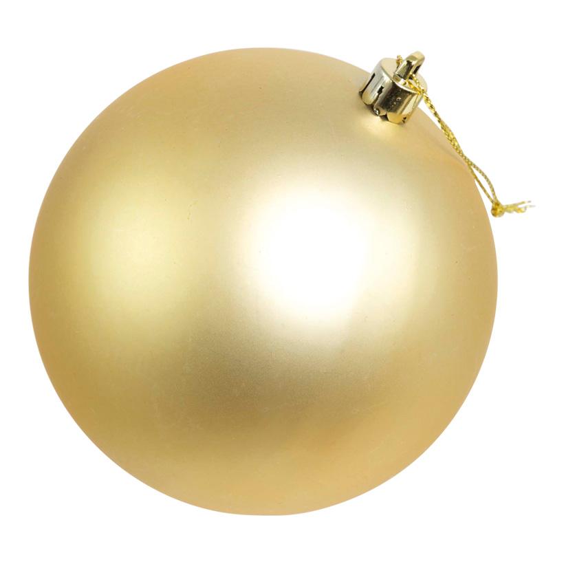 Weihnachtskugel, mattgold, Ø 6cm, 12Stck./Blister, nahtlos, matt