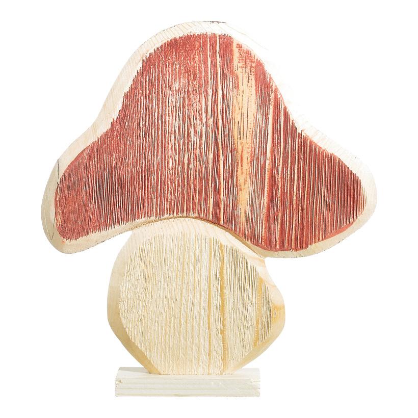 # Pilz aus Holz, 19x18cm mit Standfuß