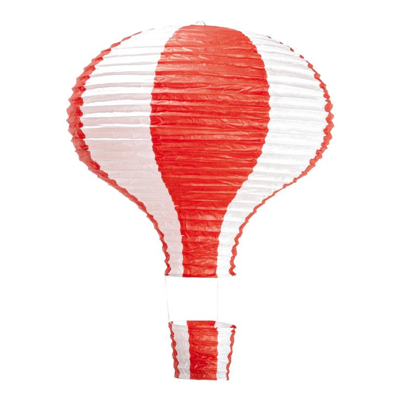 Heißluftballon, Ø 40cm, 60cm, Streifen, Papier