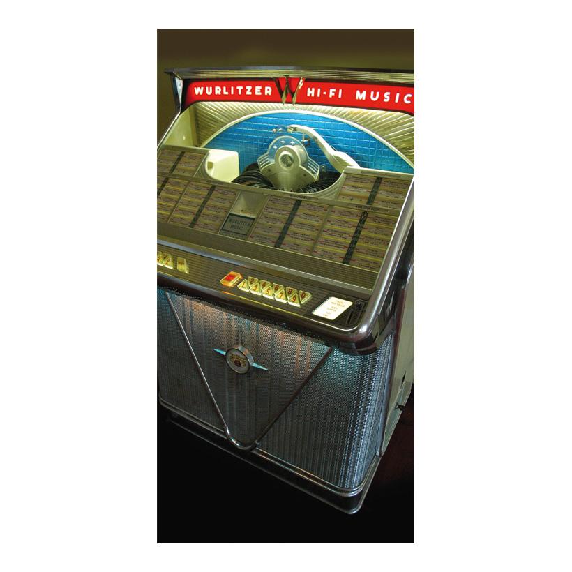 "# Motivdruck  ""Jukebox"", 180x90cm Stoff"