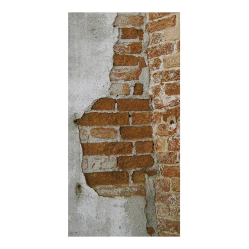 """# Motivdruck """"Altes Mauerwerk"""", 180x90cm Papier"""
