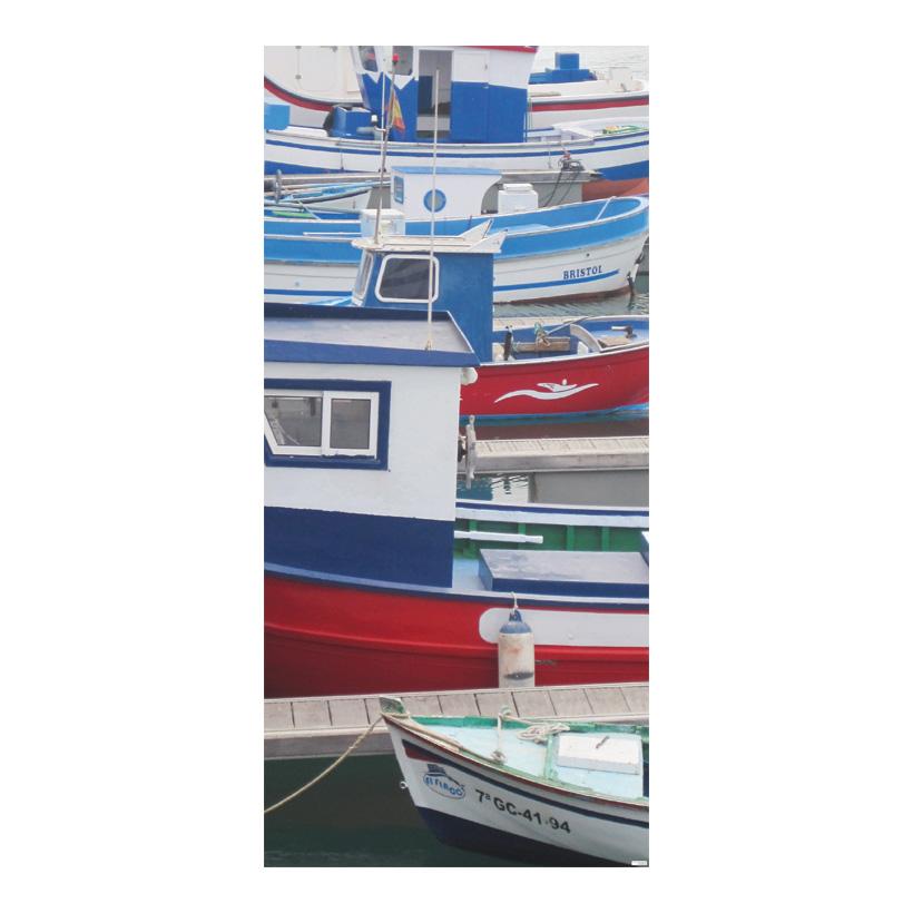 """# Motivdruck """"Fischerboote"""" 180x90cm Stoff"""