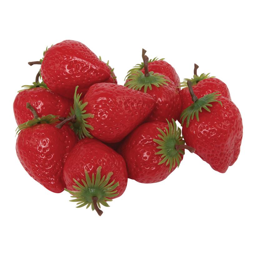 # Erdbeere, Ø 5cm, 12Stck./Btl., Kunststoff